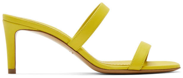 Mansur Gavriel Yellow Leather Fino Sandals