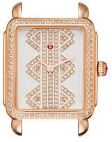 Michele Women's Deco Ii Mid Diamond Dial Watch Case, 26Mm X 28Mm