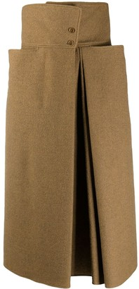 Lemaire High-Waisted Side Vent Skirt