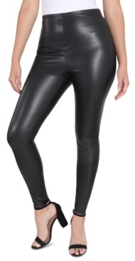 Seven7 Tummy-Control Faux-Leather Leggings