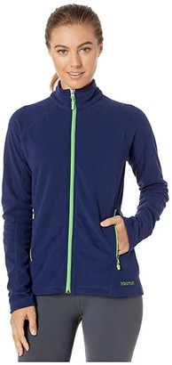 Marmot Rocklin Full Zip Jacket (Arctic Navy/Vibrant Green) Women's Clothing