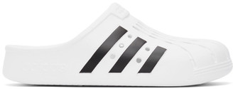 adidas White Adilette Clog Sandals