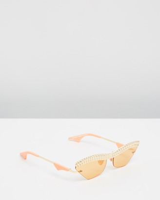 Le Specs Women's Gold Retro - Watch Out Christian Cowan x Size One Size at The Iconic