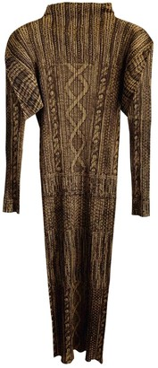 Issey Miyake Brown Polyester Dresses