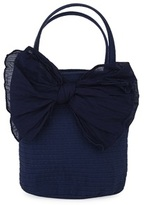 Grevi Navy Bag with Large Bow
