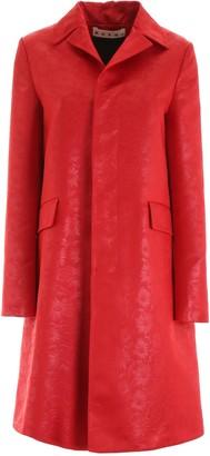 Marni Floral Jacquard Buttoned Coat