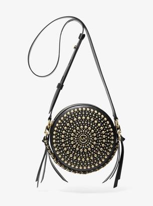 Delancey Medium Studded Leather Canteen Crossbody Bag