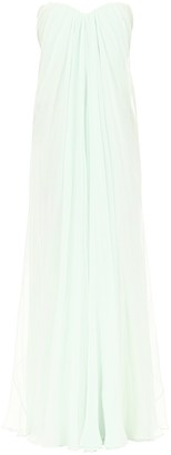 Alexander McQueen Strapless Draped Bandeau Dress