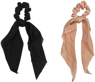 Headbands Of Hope Solid Black & Solid Pink Scrunchie Scarves