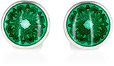 Barneys New York Men's Floral Cufflinks-GREEN