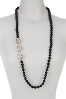 Simon Sebbag Sterling Silver Black Onyx Wired Bead Necklace
