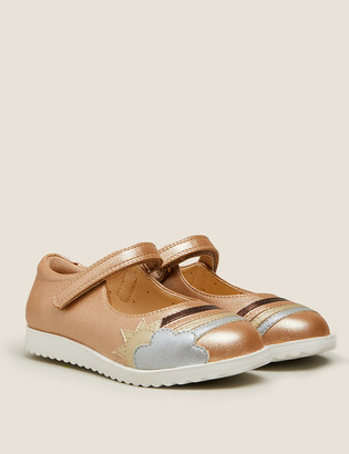 Marks and Spencer Kids' Metallic Rainbow Mary Jane Shoes (5 small-12 small)