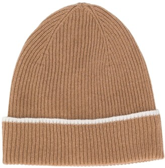 Eleventy Ribbed Cashmere Beanie