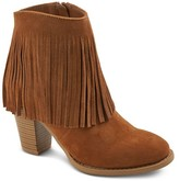 Mossimo Women's Fringed Ankle Booties - Moss Supply Co