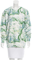 Timo Weiland Floral Print Crew Neck Sweatshirt