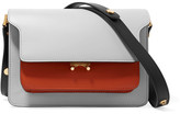 Marni Trunk Medium Color-block Leather Shoulder Bag - Light gray