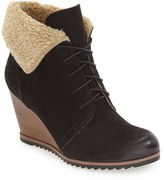 Caslon Gaby Faux Shearling Lace Up Bootie (Women)