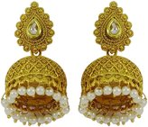 Matra New Indian Traditional tone Jhumka Earring Bollywood Bridal Ethnic Jewelry