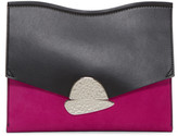 Proenza Schouler Pink and Black Medium Curl Clutch