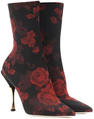 Dolce & Gabbana Cardinale jacquard ankle boots