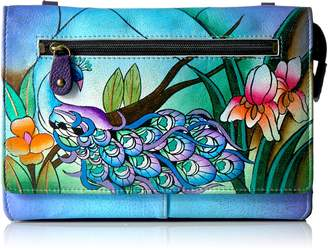 Anuschka Anna By  Hand Painted Leather Organizer Wallet On String Wallet