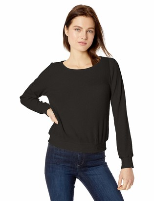 Cupcakes And Cashmere Women's Faxon Textured Knit Bell Sleeve with Smocking