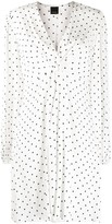 Pinko Long-Sleeve Polka Dot Printed Dress