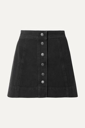 Madewell Metropolis Stretch-denim Mini Skirt - Black