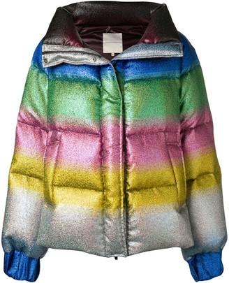 Marco De Vincenzo Rainbow Gradient Padded Jacket
