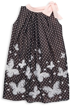 Helena And Harry Baby's & Little Girl's Dotted Butterfly Bow Dress