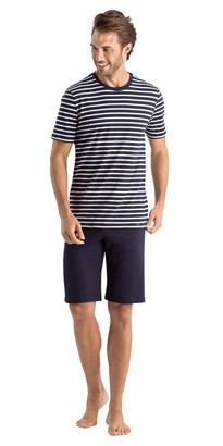 Hanro Men's Night and Day Short Sleeve Pajama Set