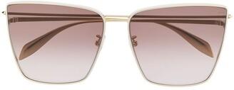 Alexander McQueen Oversized square-frame sunglasses