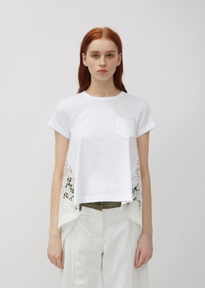 Sacai Embroidery Lace Cotton Tee