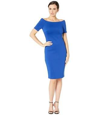 Calvin Klein Bateau Neck Short Sleeve Sheath Dress