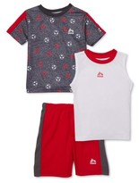 Rbx RBX Boys Printed T-Shirt, Muscle Tank Top and Mesh Shorts, 3-Piece Athletic Set, Sizes 4-12