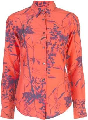 MONICA Sara Roka leaf printed blouse