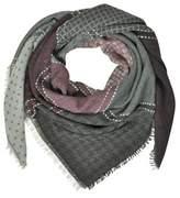 Marina D'Este Women's Grey/red Wool Scarf.