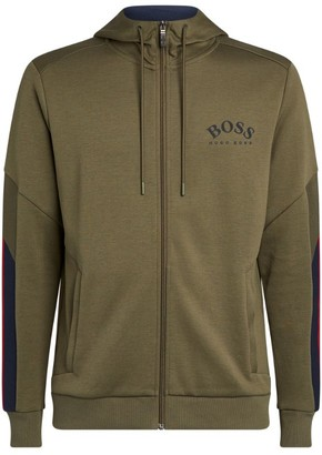 HUGO BOSS Zip-Up Logo Hoodie