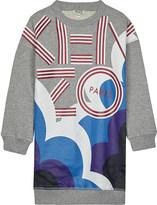 Kenzo Logo print cotton jumper dress 4-16 years