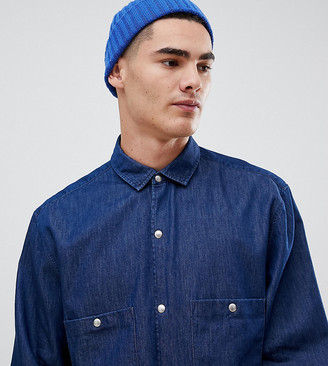Noak regular fit denim shirt in long sleeve