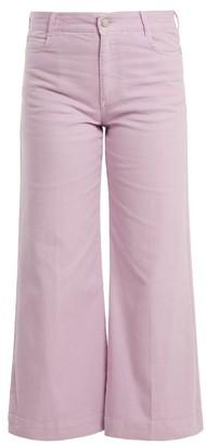 Stella McCartney Wide-leg Cropped Jeans - Light Purple