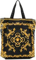 Versace signature print shoulder bag - men - Leather/Polyamide - One Size