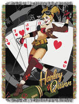 Warner Brothers Harley Queen Clown Triple Woven Tapestry Throw Bedding