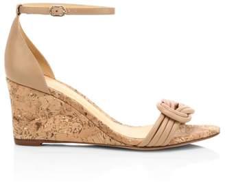 Alexandre Birman Vicky Leather Wedge Heel Sandals