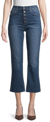 Joe's Jeans High-Rise Button Kick Flare Jeans
