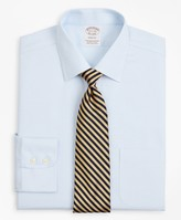 Brooks Brothers Stretch Soho Extra-Slim-Fit Dress Shirt, Non-Iron Twill Ainsley Collar Micro-Check