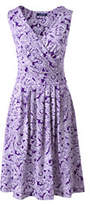 Lands' End Women's Fit and Flare Dress-Violet Orchid Paisley
