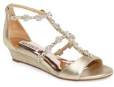 Badgley Mischka Women's Terry Ii Crystal Embellished Wedge Sandal