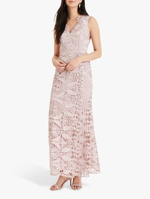 Phase Eight Collection 8 Zoey Lace Maxi Dress, Petal