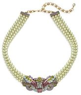 Heidi Daus Burst Of Bling Faux Pearl & Swarovski Crystal Necklace